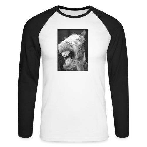lachender Esel - Männer Baseballshirt langarm