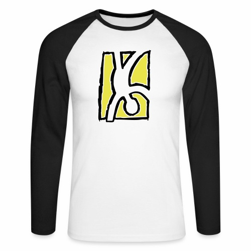 Capoeira: Hand stand - Men's Long Sleeve Baseball T-Shirt