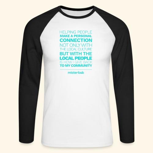 misterb&b - T-shirt baseball manches longues Homme