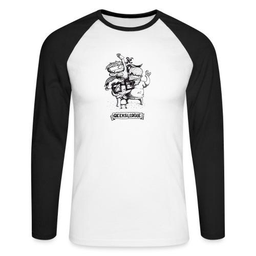 Illu Geeksleague - T-shirt baseball manches longues Homme
