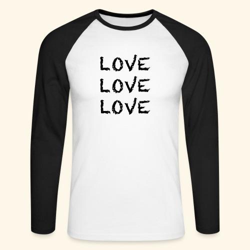 LOVE Black 001 - Männer Baseballshirt langarm