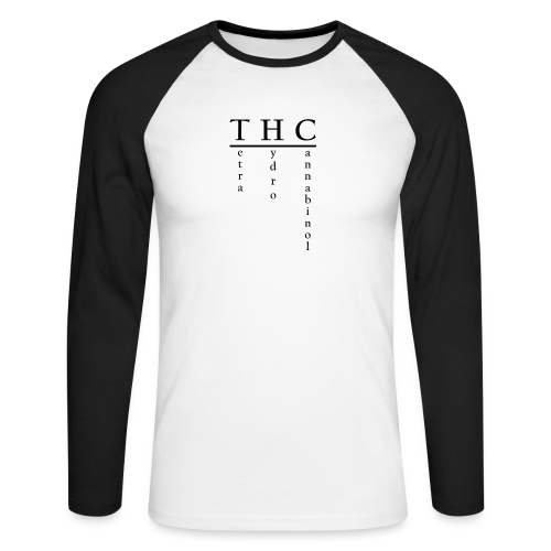 THC-Tetrahydrocannabinol - Männer Baseballshirt langarm