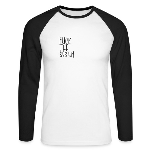 FCK - Koszulka męska bejsbolowa z długim rękawem
