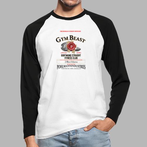 GYM BEAST - Männer Baseballshirt langarm
