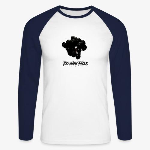 Too many faces (NF) - Men's Long Sleeve Baseball T-Shirt