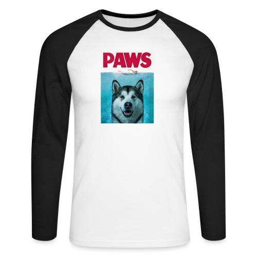 paws 2 - Men's Long Sleeve Baseball T-Shirt