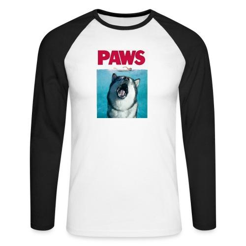 paws Alaskan Malamute - Men's Long Sleeve Baseball T-Shirt