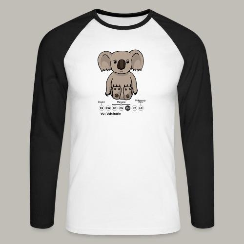 Koala & Co - T-shirt baseball manches longues Homme