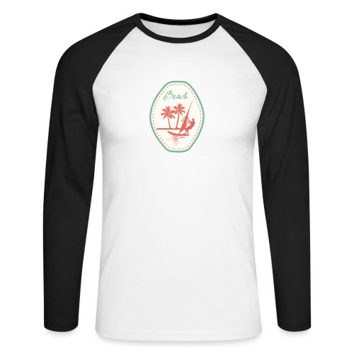 Beach - Men's Long Sleeve Baseball T-Shirt