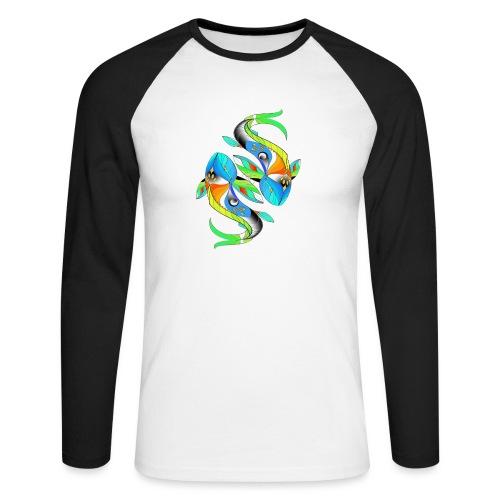 Regenbogenfische - Männer Baseballshirt langarm