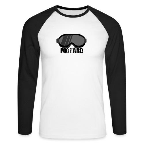 Motard Mask Moto Cross - Maglia da baseball a manica lunga da uomo