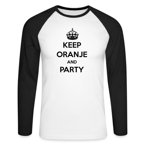 KEEP ORANJE AND PARTY - Mannen baseballshirt lange mouw