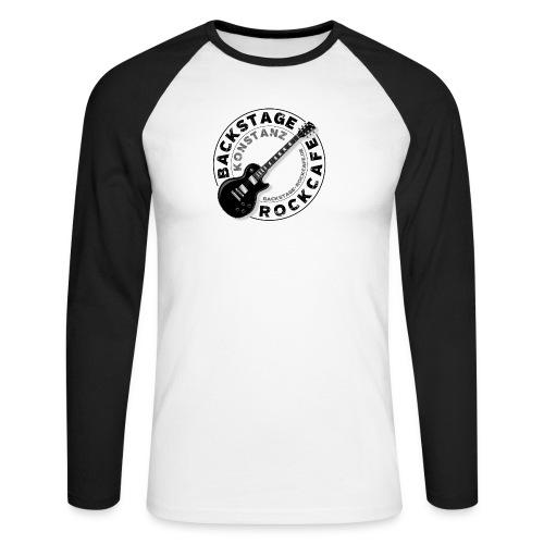 Backstage Logo einfach Schwarz - Männer Baseballshirt langarm