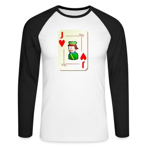 Jack Hearts png - Men's Long Sleeve Baseball T-Shirt