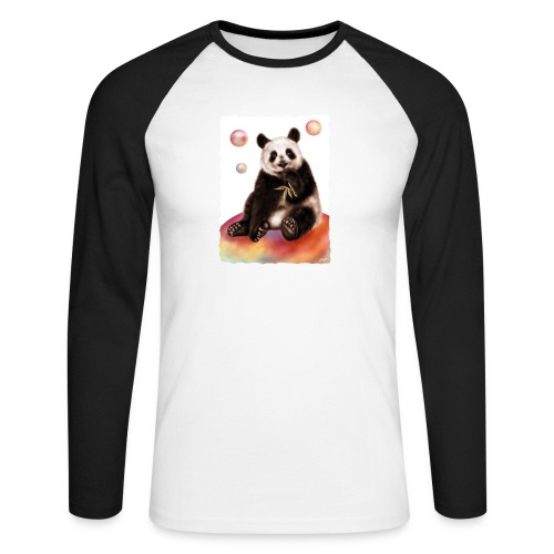 Panda World - Maglia da baseball a manica lunga da uomo