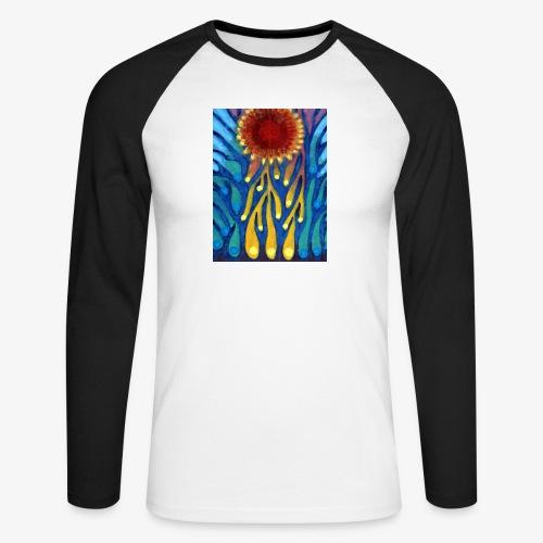 Chore Słońce - Koszulka męska bejsbolowa z długim rękawem