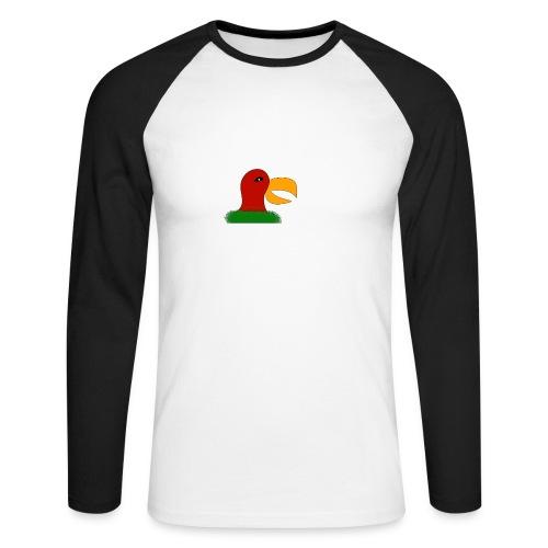 Parrots head - Men's Long Sleeve Baseball T-Shirt