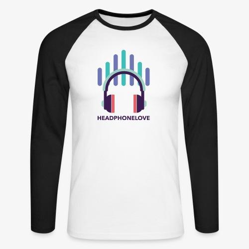 headphonelove - Männer Baseballshirt langarm