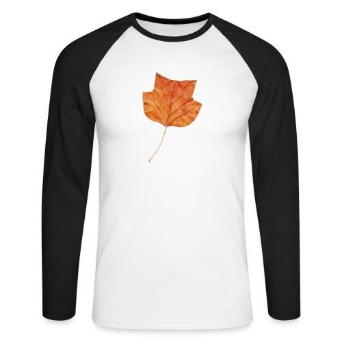 Herbst-Blatt - Männer Baseballshirt langarm