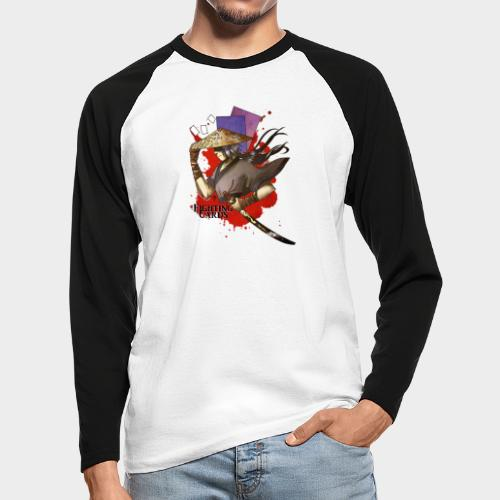 Fighting cards - Guerrier - T-shirt baseball manches longues Homme