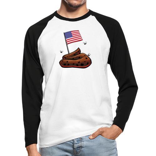 USA Haufen - Männer Baseballshirt langarm