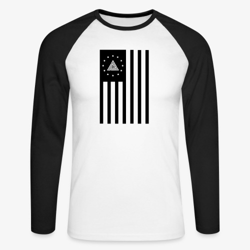Hizo Logo usa black png - Men's Long Sleeve Baseball T-Shirt