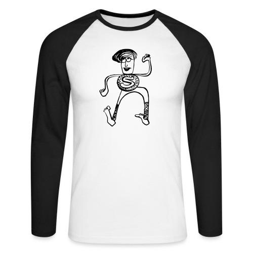 Super Pino - Maglia da baseball a manica lunga da uomo