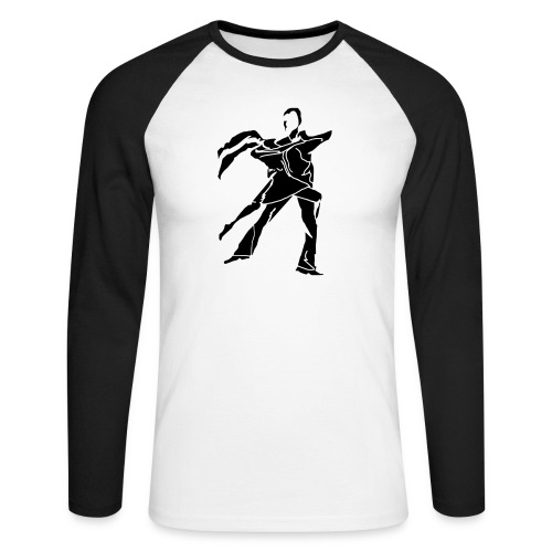 dancesilhouette - Men's Long Sleeve Baseball T-Shirt
