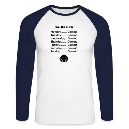 To-do list: Camino - Langærmet herre-baseballshirt