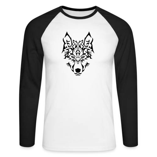 Tribal Wolf - T-shirt baseball manches longues Homme