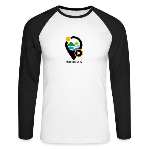 Picto CCTV Black - T-shirt baseball manches longues Homme