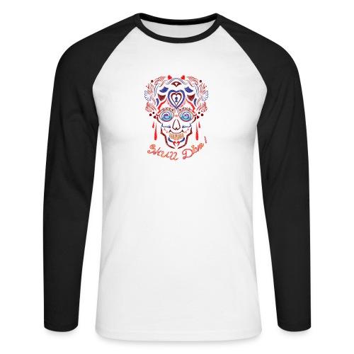 Skull Tattoo Art - Men's Long Sleeve Baseball T-Shirt
