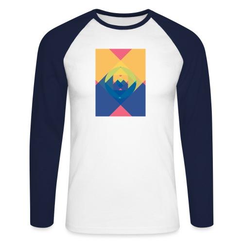 square and shadow - Männer Baseballshirt langarm