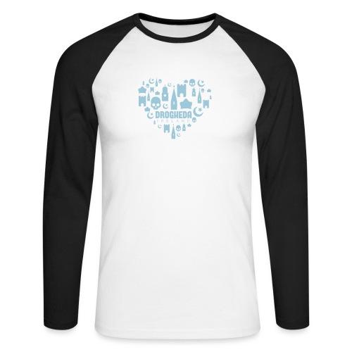 Drogheda Black - Men's Long Sleeve Baseball T-Shirt