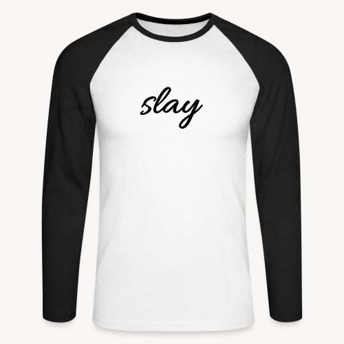 SLAY - Miesten pitkähihainen baseballpaita