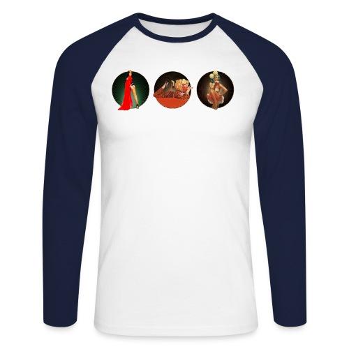 Pinup your Life - Xarah as Pinup 3 in 1 - Men's Long Sleeve Baseball T-Shirt