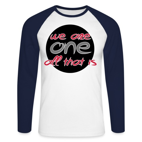 We are all ONE - Langærmet herre-baseballshirt