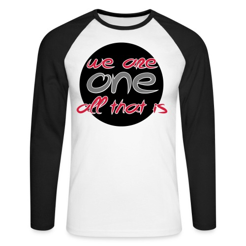We are all ONE - Langærmet herre-baseballshirt