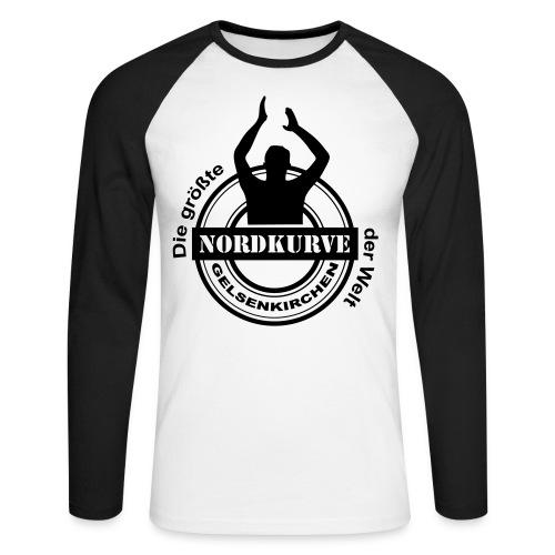 Die größte Nordkurve der Welt - Schrift - Männer Baseballshirt langarm
