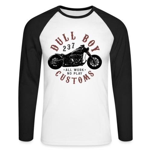 Dull Boy Customs 237 - Langermet baseball-skjorte for menn