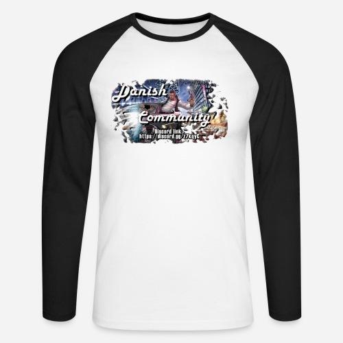 Dansih community - fivem2 - Langærmet herre-baseballshirt