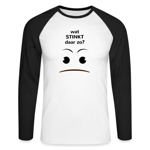 Grappige Rompertjes: Wat stinkt daar zo - Mannen baseballshirt lange mouw