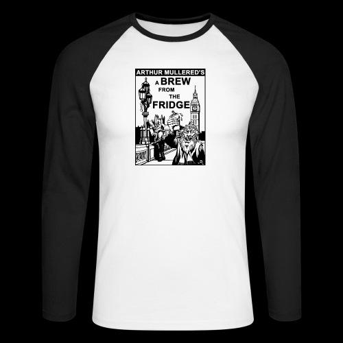 A Brew from the Fridge v2 - Men's Long Sleeve Baseball T-Shirt