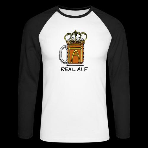 Real Ale - Men's Long Sleeve Baseball T-Shirt