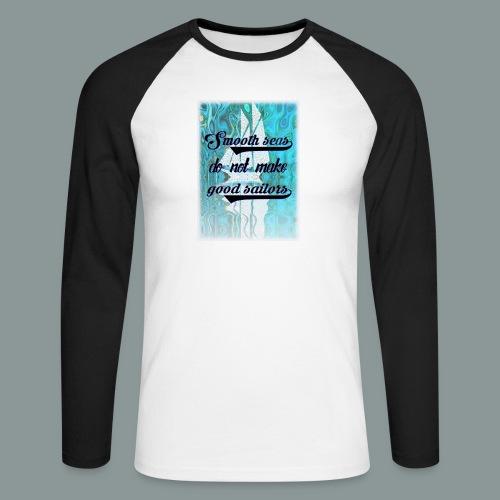 smooth seas - Männer Baseballshirt langarm