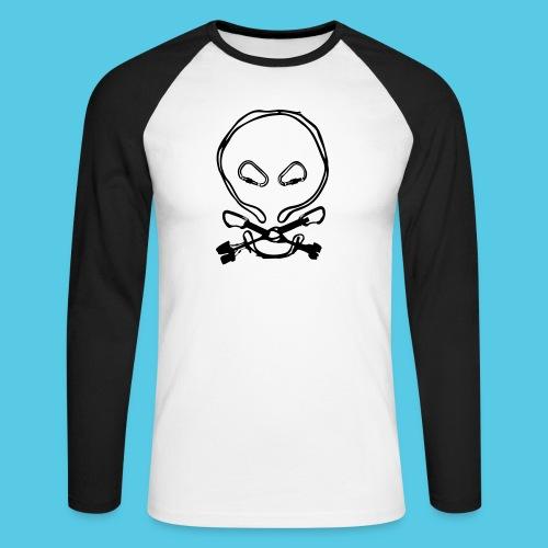 Totenkopf - Männer Baseballshirt langarm