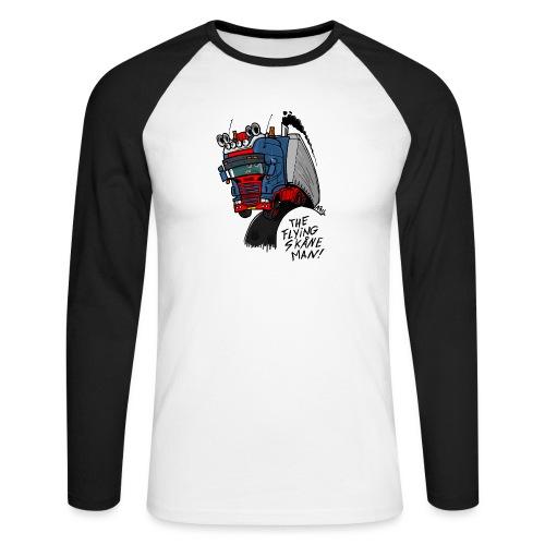 The flying skane man - Mannen baseballshirt lange mouw
