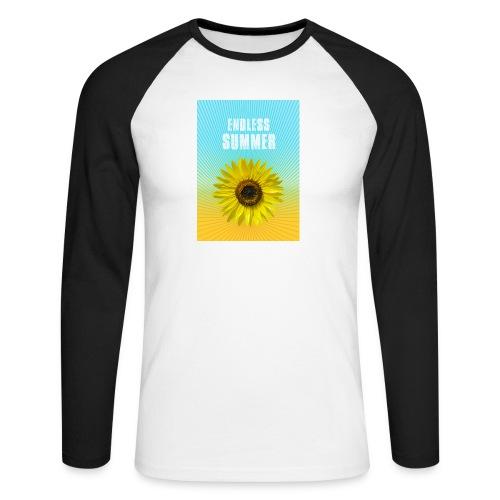 sunflower endless summer Sonnenblume Sommer - Men's Long Sleeve Baseball T-Shirt