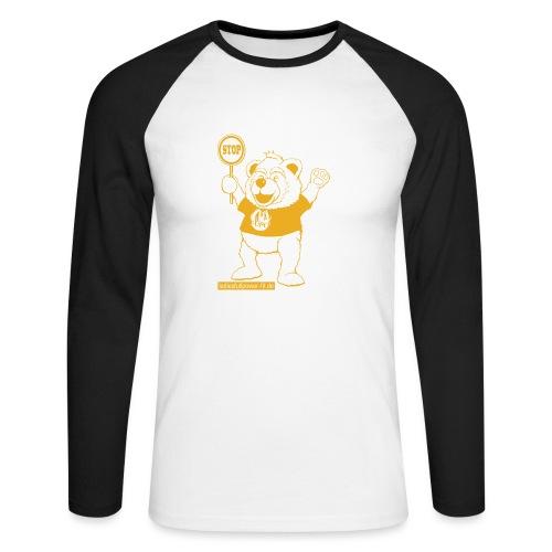 FUPO der Bär. Druckfarbe Orange - Männer Baseballshirt langarm
