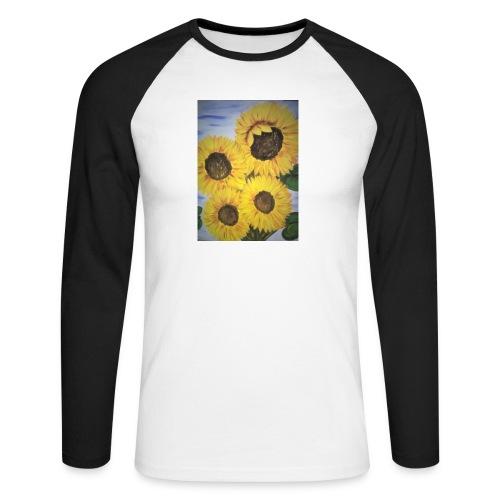 SonnenblumeIMG 20180815 090758 - Männer Baseballshirt langarm